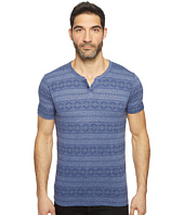 Lucky Brand - Intarsia Button Notch Tee