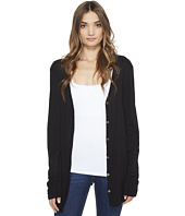 Michael Stars - Slub Long Sleeve Cardigan w/ Raw Edges