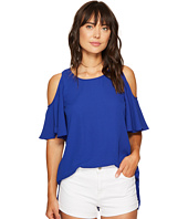 kensie - Luxury Crepe Cold Shoulder Top KS6K4219