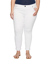 KUT from the Kloth - Plus Size Catherine Boyfriend Wide Cuff in Optic White