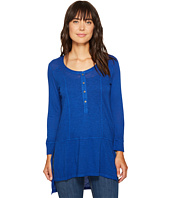 Mod-o-doc - Featherweight Slub Jersey Henley Tunic with Side Slits