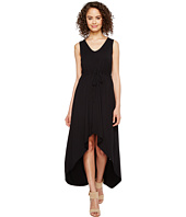 Mod-o-doc - Cotton Modal Spandex Jersey Cinch Waist Hi-Low Hem Tank Dress