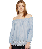 NYDJ - Off Shoulder Top w/ Embroidered Detail