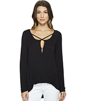 HEATHER - Long Sleeve Crisscross Top