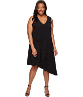 Adrianna Papell - Plus Size Asymmetrical Front Drape Dress
