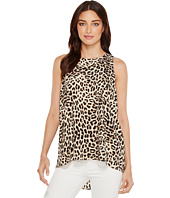 Vince Camuto - Sleeveless Leopard Song High-Low Hem Blouse