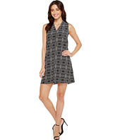 Vince Camuto - Sleeveless Yoruba Graphic Invert Pleat Dress