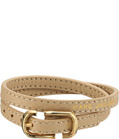 Marc Jacobs - Icon Buckle Double Wrap Leather Bracelet