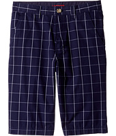 Lacoste Kids - Windowpane Check Bermuda Shorts (Little Kids/Big Kids)