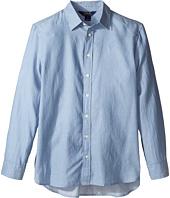 Polo Ralph Lauren Kids - Lightweight Cotton Button Front Shirt (Big Kids)