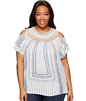 Lucky Brand - Plus Size Cold Shoulder Crochet Top