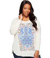 Lucky Brand - Plus Size Watercolor Hamsa Hand Tee