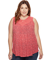 Lucky Brand - Plus Size Paisley Crochet Tank Top