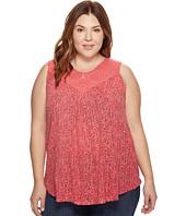 Lucky Brand - Plus Size Paisley Crochet Tank Top