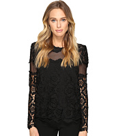 ROMEO & JULIET COUTURE - Long Sleeve Lace Top