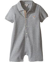 Paul Smith Junior - Short Sleeve Grey Pique Romper (Infant)