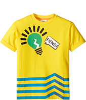 Fendi Kids - Short Sleeve Logo Light Bulb Graphic T-Shirt (Toddler)