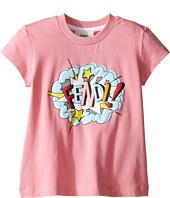 Fendi Kids - Short Sleeve T-Shirt w/ Logo Design on Front (Toddler)