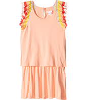 Chloe Kids - Rainbow Ruffles Short Sleeve Dress From Adult Collection (Little Kids/Big Kids)