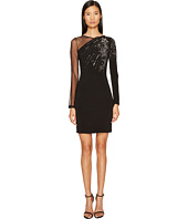 Just Cavalli - Long Sleeve Falling Stars and Mesh Dress