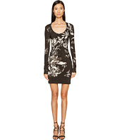 Just Cavalli - Long Sleeve Tulip Heaven Print Jersey Dress