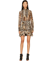 Just Cavalli - Long Sleeve Mixed Animal Print Dress