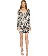 Just Cavalli - Wings of Dove Printed Jersey Long Sleeve Dress