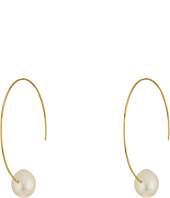 LAUREN Ralph Lauren - Talk that Talk Pearl Hoop Earrings