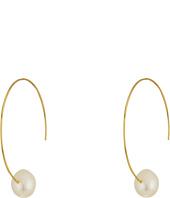 LAUREN Ralph Lauren - Talk that Talk Pearl Hoop Earrings