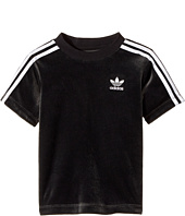 adidas Originals Kids - 3-Stripes Velour Tee (Infant/Toddler)