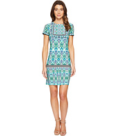 London Times - Ikat Shield Short Sleeve Shift Dress