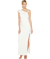 Badgley Mischka - Asymmetrical Lace Trimmed Gown