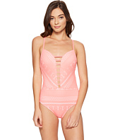 Bleu Rod Beattie - Sneak Peek Plunge Halter Mio One-Piece