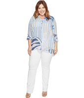 NIC+ZOE - Plus Size Palm Lines Top