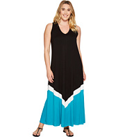 Karen Kane Plus - Plus Size Color Block Maxi Dress