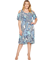 Karen Kane Plus - Plus Size Cold Shlouder Dress