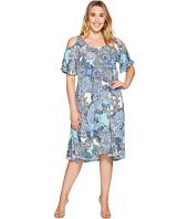 Karen Kane Plus - Plus Size Cold Shlouder Dress