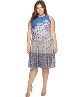 NIC+ZOE - Plus Size Rain Drops Twirl Dress