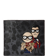 Dolce & Gabbana - Family Leopard/Patch Wallet