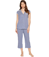 Eileen West - Cotton Stripe Short Sleeve Capris PJ Set