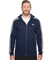 adidas - Big &Tall Essentials Cotton 3S Full Zip Hoodie
