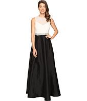 Adrianna Papell - Bead Boidice Taffeta long Gown