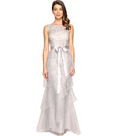 Adrianna Papell - Sequin Lace Organza Gown w/ Tier Ruffle