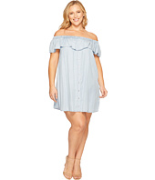 B Collection by Bobeau Curvy - Plus Size Rosie Off Shoulder Flounce Dress