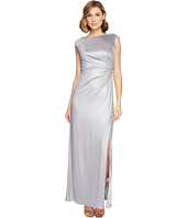 Adrianna Papell - Jersey Draped Sequin Inset Gown