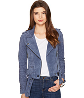 Blank NYC - Suede Moto Jacket in Slate Blue