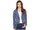 Suede Moto Jacket in Slate Blue