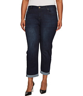 Liverpool - Plus Size Peyton Slim Boyfriend on Vintage Super Comfort Stretch Denim in Vintage Super Dark