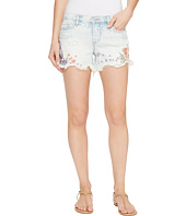 Blank NYC - Floral Embroidered Denim Shorts in Sitting Pretty