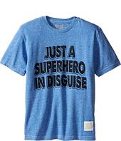 The Original Retro Brand Kids - Superhero In Disguise Short Sleeve Tri-Blend Tee (Big Kids)